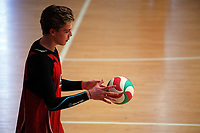 Action from the Volleyball NZ 50th National Club Championship men's division one match between the Mauao Warriors and Rebels at ASB Sports Centre in Wellington, New Zealand on Saturday, 12 October 2017. Photo: Dave Lintott / lintottphoto.co.nz