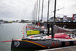Teams re-star sailing at the Scheveningen Harbour after a 24-hours pit stop of the Volvo Ocean Race Leg 9 Lorient - Gothenburg on June 20, 2015 in The Hague, Netherlands. Photo by Victor Fraile / Power Sport Images