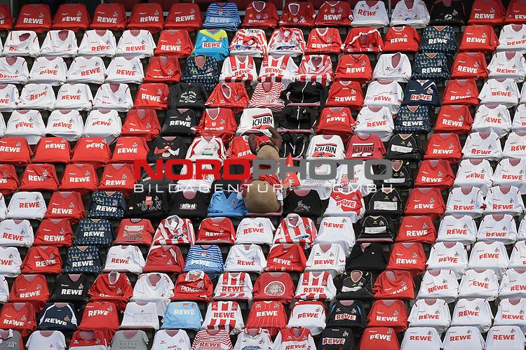 nph00351: leere Raenge,Trikots liegen auf Sitzschalen.<br /> Sport: Fussball: 1. Bundesliga: Saison 19/20: 26.Spieltag: 1.FC KOELN-FSV MAINZ 05,17.05.2020.<br /> Foto: Anke Waelischmiller/SVEN SIMON/POOL / via Meuter/nordphoto<br /> <br /> Nur für journalistische Zwecke! Only for editorial use!<br /> Gemäß den Vorgaben der DFL Deutsche Fußball Liga ist es untersagt, in dem Stadion und/oder vom Spiel angefertigte Fotoaufnahmen in Form von Sequenzbildern und/oder videoähnlichen Fotostrecken zu verwerten bzw. verwerten zu lassen. DFL regulations prohibit any use of photographs as image sequences and/or quasi-video.