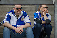 Bristol Rovers fans appear nervous ahead of the Sky Bet League 2 match between Bristol Rovers and Dagenham and Redbridge at the Memorial Stadium, Bristol, England on 7 May 2016. Photo by Mark  Hawkins / PRiME Media Images.