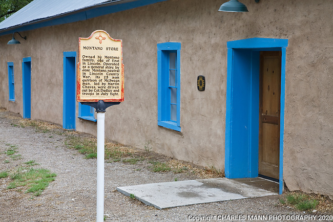 The Montano Store at the Lincoln State Monument in Lincoln, New Mexico is built from adobe and originally had no foundation at all.