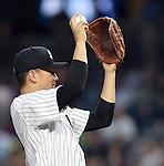 Masahiro Tanaka (Yankees), JUNE 9, 2015 - MLB : New York Yankees starting pitcher Masahiro Tanaka prepares to throw the ball during a baseball game against the Washington Nationals at Yankee Stadium in New York, United States. (Photo by AFLO)