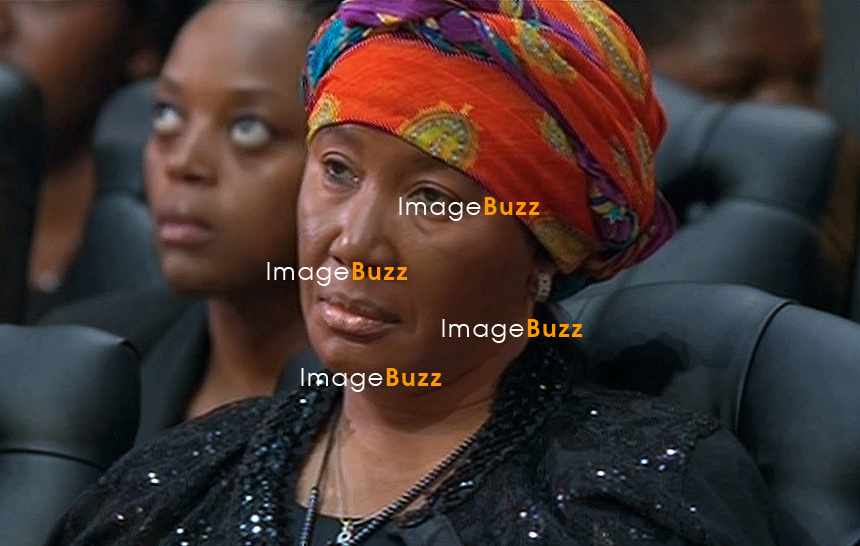 Qunu, South Africa: 15.12.2013: STATE FUNERAL FOR NELSON MANDELA<br /> MAKAZIZE MANDELA<br /> attends the Funeral Service for former President Nelson Mandela in Qunu, Eastern Cape, South Africa