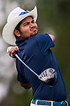 Aman Raj of India in action during the 9th Faldo Series Asia Grand Final 2014 golf tournament on March 19, 2015 at Mission Hills Golf Club in Shenzhen, China. Photo by Xaume Olleros / Power Sport Images