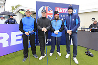 Andrew Johnston (ENG) and team during the Hero Pro-am at the Betfred British Masters, Hillside Golf Club, Lancashire, England. 08/05/2019.<br /> Picture Fran Caffrey / Golffile.ie<br /> <br /> All photo usage must carry mandatory copyright credit (© Golffile | Fran Caffrey)