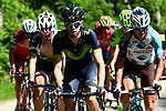 The breakaway 6' ahead during Stage 7 of the Criterium du Dauphine 2017, running 168km from Aoste to Alpe d'Huez, France. 10th June 2017. <br /> Picture: ASO/A.Broadway | Cyclefile<br /> <br /> <br /> All photos usage must carry mandatory copyright credit (&copy; Cyclefile | ASO/A.Broadway)