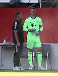 Hansi Flick Trainer head coach von FC Bayern Muenchen mit Manuel Neuer #1 von FC Bayern Muenchen<br /><br />Testspiel Audi Football Summit FC Bayern Muenchen - Olympique Marseille  auf dem FC Bayern Campus<br />Saisonvorbereitung  2020 / 2021  <br /><br />Foto : Stefan Matzke / sampics / Pool via nordphoto / Bratic<br /><br />Nur für journalistische Zwecke ! Only for editorial use !<br /><br />DFL regulations prohibit any use of photographs as image sequences and/or quasi-video