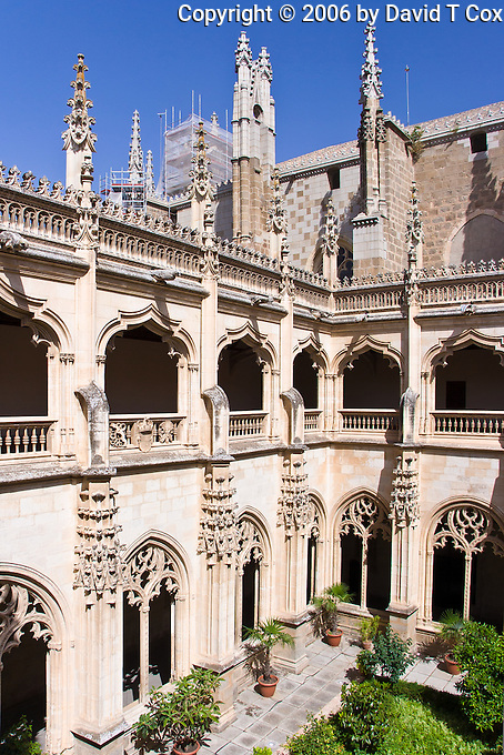 Cloister, Iglesia San Juan, by Juan Guaz 1477, Toledo, Spain