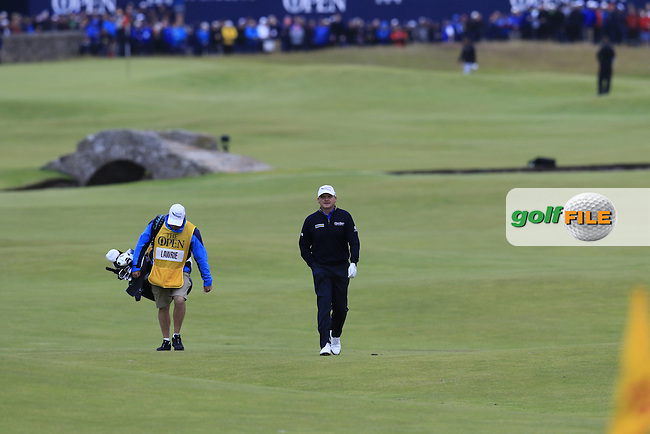 Paul LAWRIE (SCO) on the 18th hole during Sunday's Round 3 of the 144th Open Championship, St Andrews Old Course, St Andrews, Fife, Scotland. 19/07/2015.<br /> Picture Eoin Clarke, www.golffile.ie
