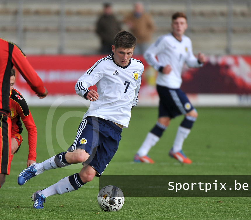 Scotland U19 - Belgium U19 : Matthew Kennedy.foto DAVID CATRY / Nikonpro.be