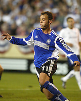 San Jose Earthquakes midfielder Brad Davis in action during a 2005 MLS match between the San Jose Earthquakes and New England Revolution on April 2, 2005 at Spartan Stadium in San Jose, California.  The match ended in a 2-2 tie.