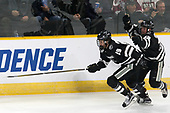 Conor MacPhee (PC - 29), Robbie Hennessey (PC - 25) - The Harvard University Crimson defeated the Providence College Friars 3-0 in their NCAA East regional semi-final on Friday, March 24, 2017, at Dunkin' Donuts Center in Providence, Rhode Island.