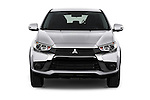 Car photography straight front view of a 2017 Mitsubishi Outlander-Sport ES-AWC 5 Door SUV Front View