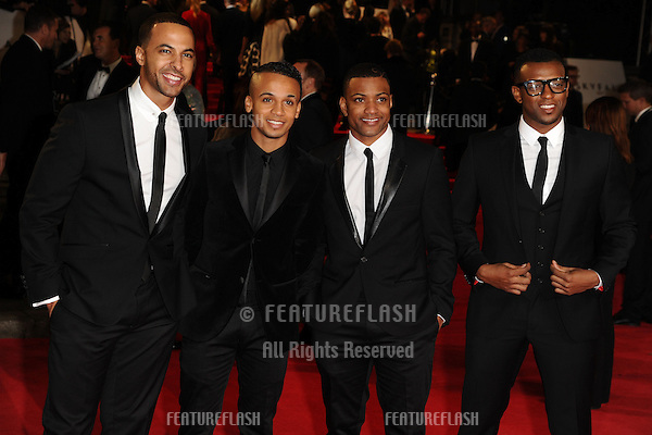 JLS arriving for the Royal World Premiere of 'Skyfall' at Royal Albert Hall, London. 23/10/2012 Picture by: Steve Vas / Featureflash