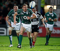 Photo: Richard Lane/Richard Lane Photography. .Barbarians v Ireland. The Gartmore Challenge. 27/05/2008. Ireland's Gavin Duffy chases the ball.