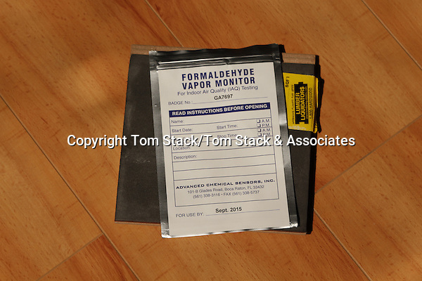 Islamorada, Florida - March 14, 2015:  A formaldehyde  test kit to test for alleged high levels of formaldehyde in Lumber Liquidators laminate flooring that was manufactured in China.  For Editorial Use only.