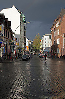 Street scenes in Hamburg, at the St. Pauli Reeperbahn, Germany