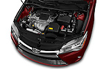 Car Stock 2017 Toyota Camry 2.5-Auto-LE 4 Door Sedan Engine  high angle detail view