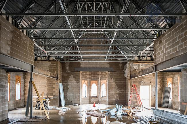 Mar. 14, 2016; Flaherty Hall construction (Photo by Matt Cashore/University of Notre Dame)