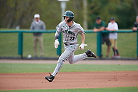 Dartmouth Big Green right fielder Matt Feinstein (23) runs to second base during a game against the USF Bulls on March 17, 2019 at USF Baseball Stadium in Tampa, Florida.  USF defeated Dartmouth 4-1.  (Mike Janes/Four Seam Images)