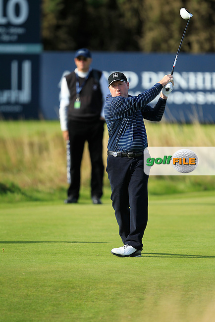 Gerry McManus during Round 1of the Alfred Dunhill Links Championship at Kingsbarns Golf Club on Thursday 26th September 2013.<br /> Picture:  Thos Caffrey / www.golffile.ie