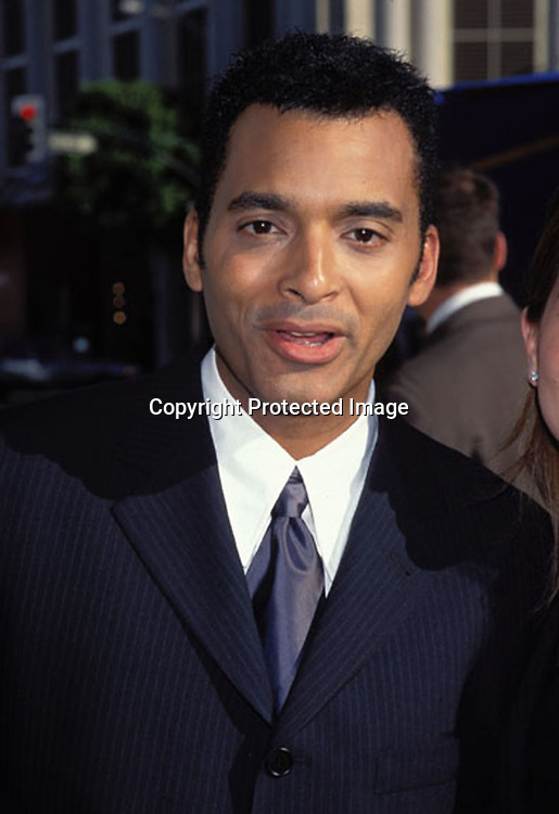 "©1997 KATHY HUTCHINS/HUTCHINS PHOTO.GRAND OPENING OF ""HUGO BOSS "" STORE.BEVERLY HILLS, CA 6/10/97.JON SECADA"