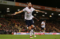 Bolton Wanderers' Mark Beevers celebrates scoring his side's equalising goal to make the score 2-2<br /> <br /> Photographer David Shipman/CameraSport<br /> <br /> The EFL Sky Bet Championship - Norwich City v Bolton Wanderers - Saturday 8th December 2018 - Carrow Road - Norwich<br /> <br /> World Copyright &copy; 2018 CameraSport. All rights reserved. 43 Linden Ave. Countesthorpe. Leicester. England. LE8 5PG - Tel: +44 (0) 116 277 4147 - admin@camerasport.com - www.camerasport.com