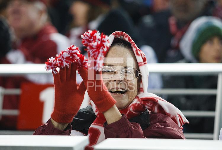 Santa Clara- December 30, 2014: Fan during the Stanford vs Maryland Foster Farms Bowl at Levi's Stadium in Santa Clara Tuesday night.<br /> <br /> Stanford won 45-21.