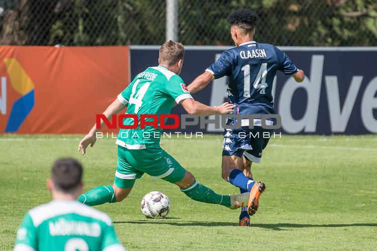 11.01.2019, Bidvest Stadion, Braampark, Johannesburg, RSA, FSP, SV Werder Bremen (GER) vs Bidvest Wits FC (ZA)<br /> <br /> im Bild / picture shows <br /> <br /> Granwald Scott Warren(Bidvest Wits FC #14)<br /> Philipp Bargfrede (Werder Bremen #44) <br /> danach das 2:2<br /> <br /> Foto © nordphoto / Kokenge