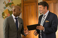 Almost Christmas (2016) <br /> Romany Malco &amp; John Michael Higgins<br /> *Filmstill - Editorial Use Only*<br /> CAP/KFS<br /> Image supplied by Capital Pictures