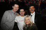 One Life To Live's Ilene Kristen poses with Roger Newcomb and Devon Jacobs (both from We Love Soaps) and Randy Jones (original cowboy of Village People) on April 28, 2010 at Will Clark's P*rno Bingo at Pieces, New York City, New York to benefit the American Foundation for Suicide Prevention - an event presented by We Love Soaps (Damon Jacobs and Roger Newcomb). (Photos by Sue Coflin/Max Photos)