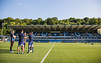 Wycombe players look over the pitch during the Friendly match between Wycombe Wanderers and AFC Wimbledon at Adams Park, High Wycombe, England on 25 July 2017. Photo by Andy Rowland.