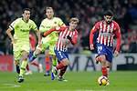 (L to R) Club Atletico de Madrid's Antoine Griezmann, Diego Costa and Futbol Club Barcelona's Sergio Busquets and Arthur Melo  during La Liga match. November 24,2018. (ALTERPHOTOS/Alconada)