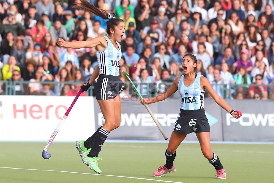 4 Noviembre 2016, Santiago-Chile. Encuentro entre las selecciones de Argentina vs Holanda por la final del Mundial Junior de Hockey Césped que se realizó en el CLub Manquehue. ©Ernesto Zelada - Xpress Media