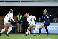 CHAPEL HILL, NC - NOVEMBER 16: Niki Clements #18 of Belmont University plays the ball during a game between Belmont and North Carolina at UNC Soccer and Lacrosse Stadium on November 16, 2019 in Chapel Hill, North Carolina.