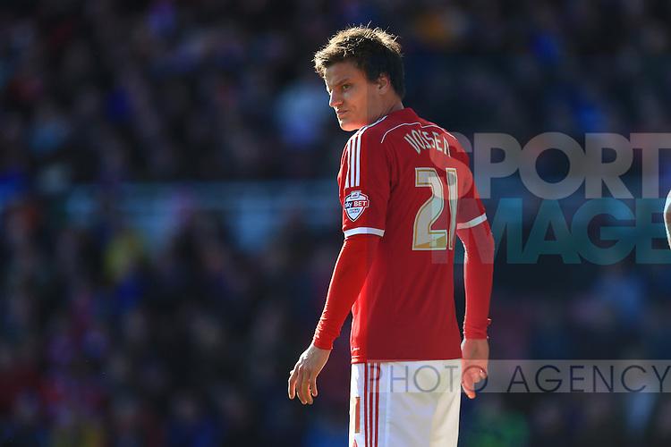 Jelle Vossen of Middlesbrough - Middlesbrough vs. Leeds United - Skybet Championship - Riverside Stadium - Middlesbrough - 21/02/2015 Pic Philip Oldham/Sportimage