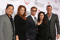LOS ANGELES, CA - OCTOBER 13: Tim Kang, Amanda Righetti, Simon Baker, Robin Tunney, and Owain Yeoman at 'The Mentalist' 100th episode celebration at The Edison on October 13, 2012 in Los Angeles, California. © mpi22/MediaPunch Inc. /NortePhotoAgency