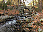 The old Keystone Bridge at Gate 30 in  The Quabbin Reservoir in New Salem, MA. The bridge was built in 1866 without mortar and by hand by Adolphus Porter
