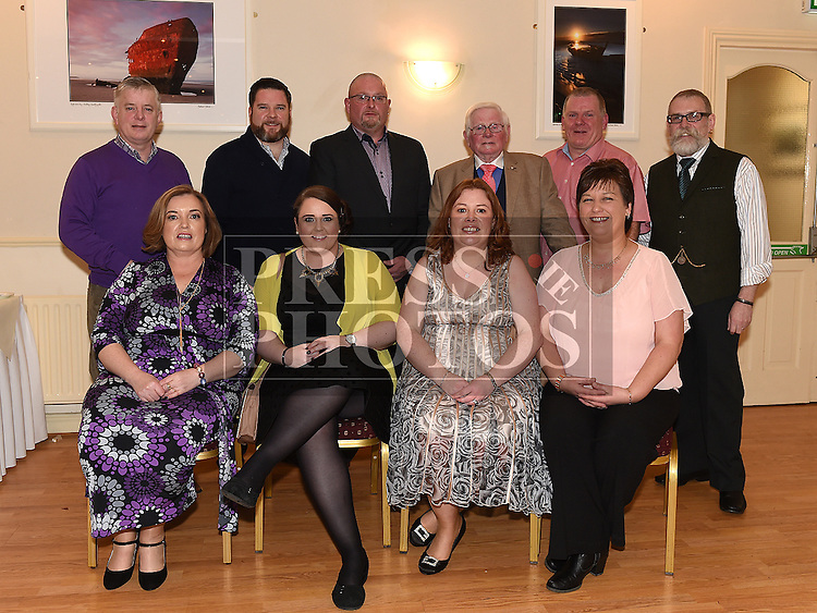 Syd Kierans celebrating his 80th birthday in The Glenside Hotel with his sons Pauland wife Karen, Noel and partner Mary Thornton, David and wife Helen, Jimmy, Martin and wife Anita. Photo:Colin Bell/pressphotos.ie