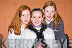 Clodadh and Alannah and Aoife Kissane pose for a photo at Lixnaw community centre  on Friday night to mark the rededication of St. Michael's church.   Copyright Kerry's Eye 2008
