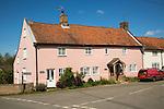 Traditional village houses in Shottisham, Suffolk, England, UK