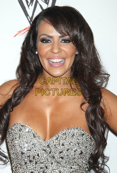 Layla El <br /> WWE &amp; E! Entertainment's &quot;SuperStars For Hope&quot; supporting Make-A-Wish at The Beverly Hills Hotel in Beverly Hills, CA., USA.<br /> August 15th, 2013<br /> headshot portrait silver strapless cleavage embellished jewel encrusted <br /> CAP/ADM/RE<br /> &copy;Russ Elliot/AdMedia/Capital Pictures