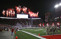 Pyrotechnics before the game at Ohio Stadium on November 1, 2014. (Chris Russell/Dispatch Photo)