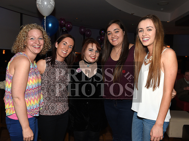 Mairead Summerville celebrating her 21st birthday in Brú with cousins Miriam Traynor, Jane, Grainne and Niamh McDonnell. Photo:Colin Bell/pressphotos.ie