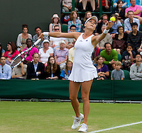 Agnieszlka Radwanka..Tennis - Grand Slam - The Championships Wimbledon - AELTC - The All England Club - London - Wed June 27th 2012. .© AMN Images, 30, Cleveland Street, London, W1T 4JD.Tel - +44 20 7907 6387.mfrey@advantagemedianet.com.www.amnimages.photoshelter.com.www.advantagemedianet.com.www.tennishead.net