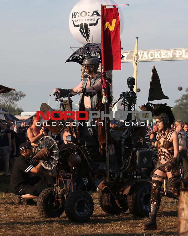 01.08.2013, Wacken, GER, W:O:A Wacken Open Air 2013, im Bild Wasteland Warriors im WŁstenoutfit, Foto © nph / Kohring