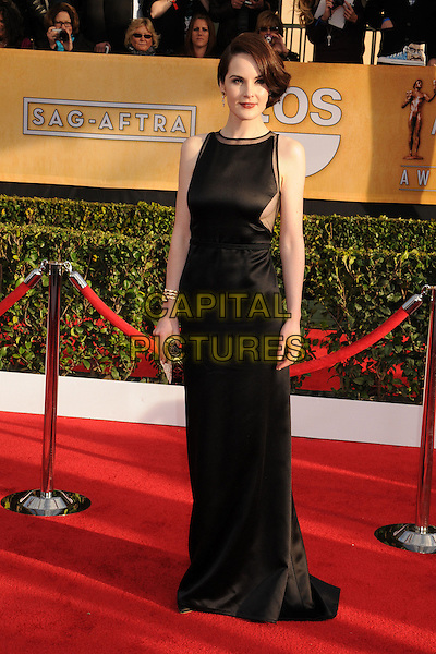 Michelle Dockery (wearing Ralph Rucci).Arrivals at the 19th Annual Screen Actors Guild Awards at the Shrine Auditorium in Los Angeles, California, USA..27th January 2013.SAG SAGs full length black sleeveless dress .CAP/ADM/BP.©Byron Purvis/AdMedia/Capital Pictures