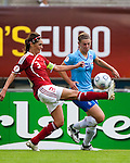 Katrin Pedersen, Chantal de Ridder, Women's EURO 2009 in Finland.Denmark-Netherlands, 08292009, Lahti Stadium