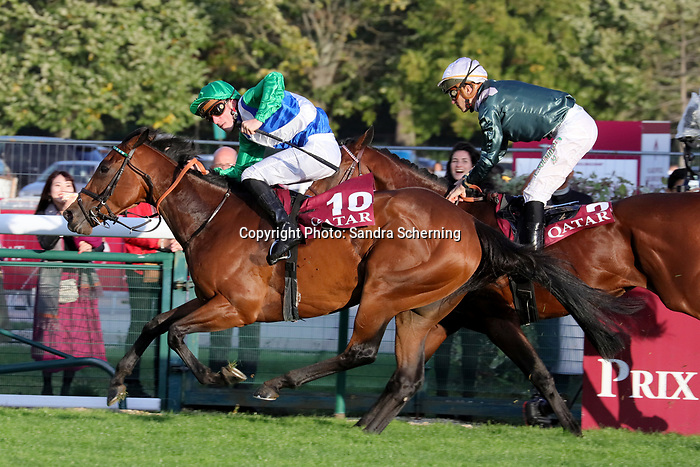 October 06, 2019, Paris (France) - One Master (10) with Pierre-Charles Boudot up wins the Qatar Prix de la Foret (Gr I) on October 6 in ParisLongchamp. [Copyright (c) Sandra Scherning/Eclipse Sportswire)]