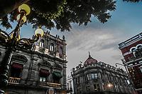 Municipal Palace of Puebla, Puebla. sunrise in the historic center and zolacalo de puebla. Colonial city, history and ancient architecture. Puebla de Zaragoza, Mexico. Building located in front of the Plaza Mayor of the Historic Center, a World Heritage Site since 1987. Elizabethan architecture with influences from the Neoclassical and Italian Renaissance<br /> <br />  (© Photo: LuisGutierrez / NortePhoto.com)<br /> <br /> Palacio Municipal de Puebla, Puebla.  amanecer en el centro historico y zolacalo de puebla. ciudad colonial, historia y arquitectrua antigua. Puebla de Zaragoza, Mexico. Edificio ubicado frente a la Plaza Mayor del Centro Histórico, patrimonio de la humanidad desde 1987.  arquitectura isabelina con influencias del neoclásico y del renacimiento italiano<br /> <br />  (© Photo: LuisGutierrez / NortePhoto.com)